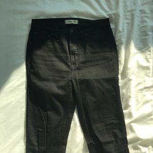 Black Madewell 10 inch high rise skinny jeans